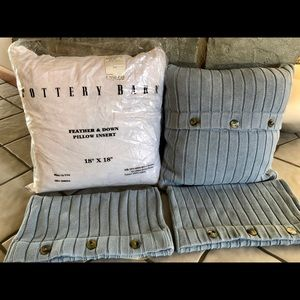 🏠 POTTERY BARN SET OF 2 PILLOWS WITH COVERS